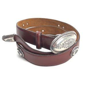 Vintage 90s Brighton   Brown Leather Western Belt